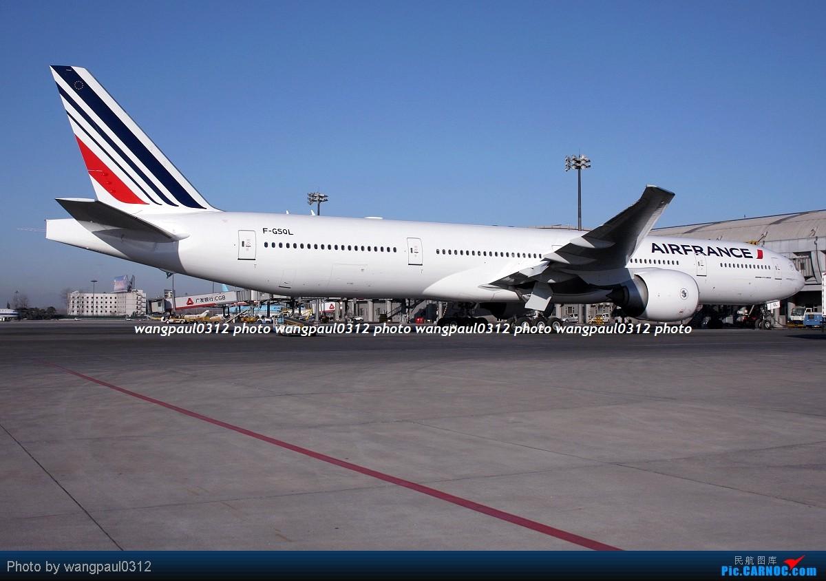 Re:[原创]一组广角拍摄的灰机照片 BOEING 777-328(ER) F-GSQL 北京首都国际机场