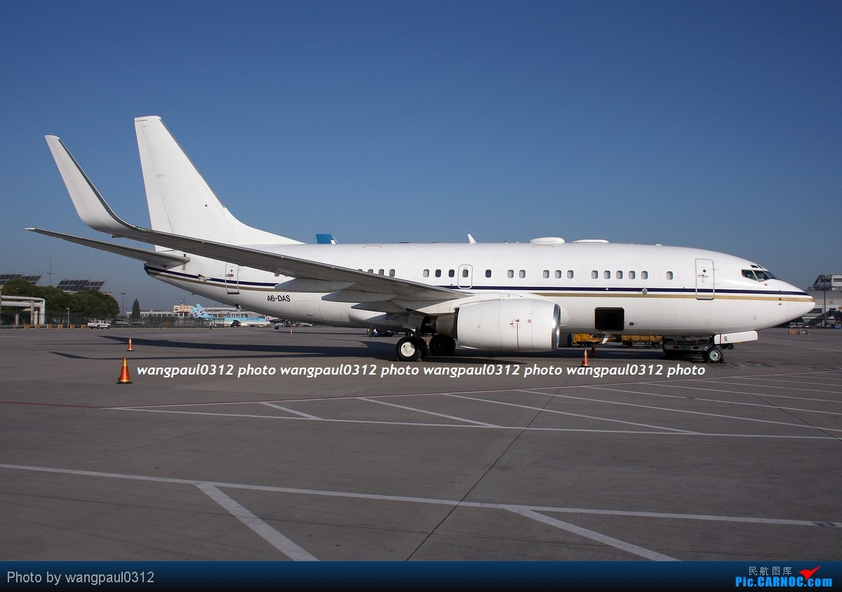 Re:[原创]一组广角拍摄的灰机照片 BOEING 737-7Z5 A6-DAS 北京首都国际机场