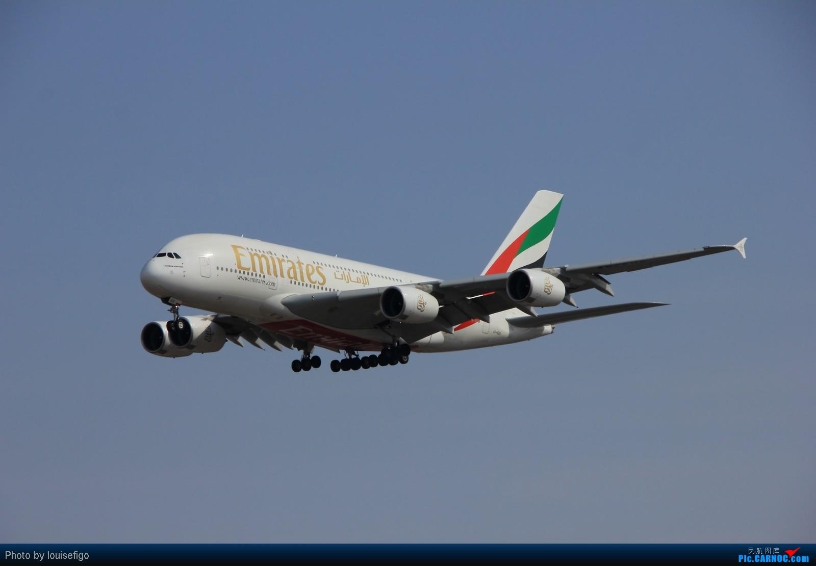 [原创]EK380,天色差点儿!很不爽 AIRBUS A380 A6-EDS 北京首都国际机场