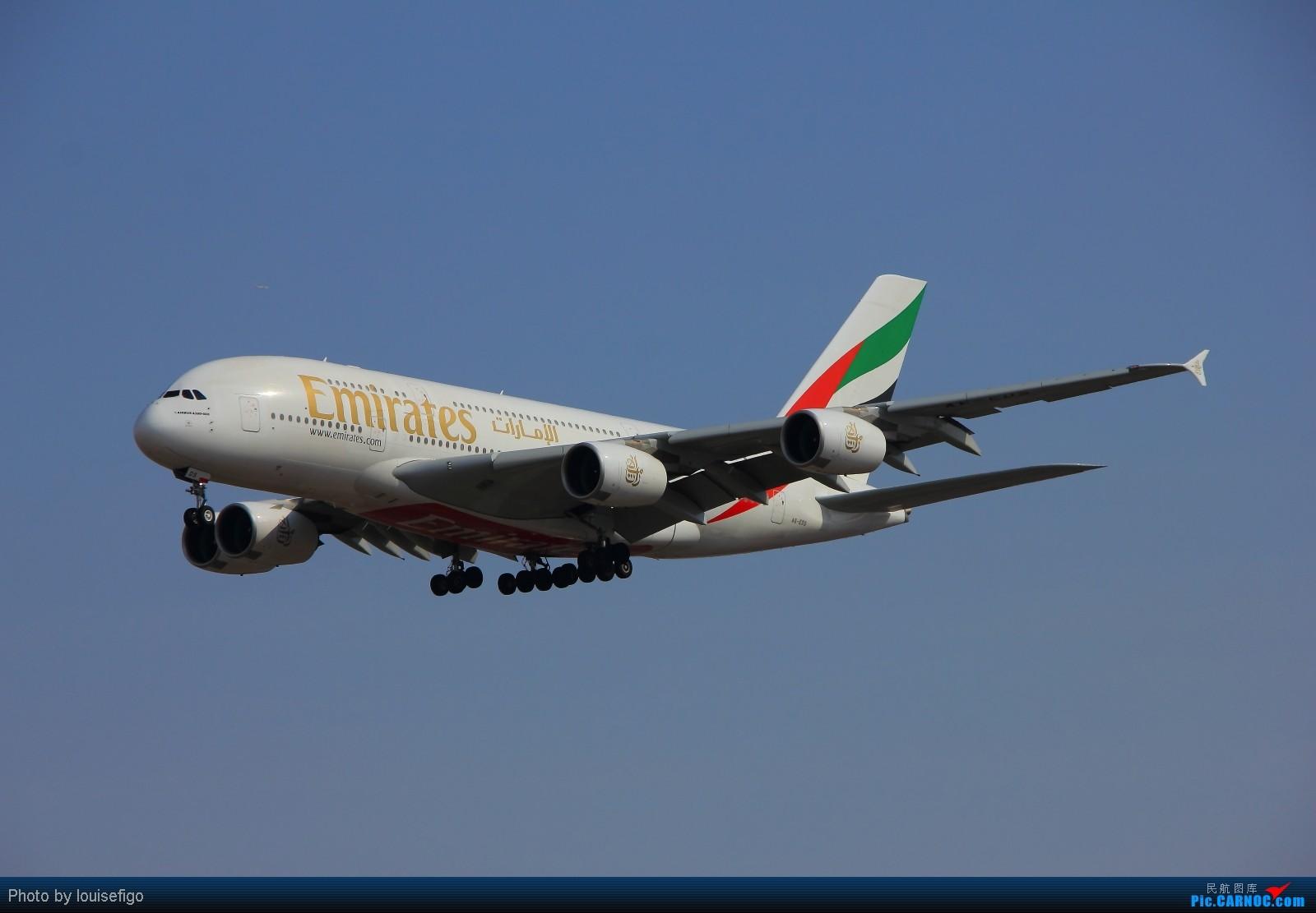 Re:[原创]EK380,天色差点儿!很不爽 AIRBUS A380 A6-EDS 北京首都国际机场