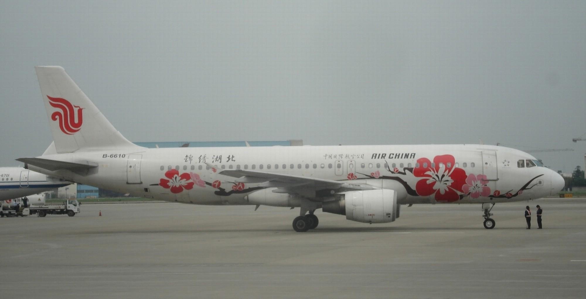 [原创]国航彩绘机-锦绣湖北 AIRBUS A320 B-6610 成都双流机场