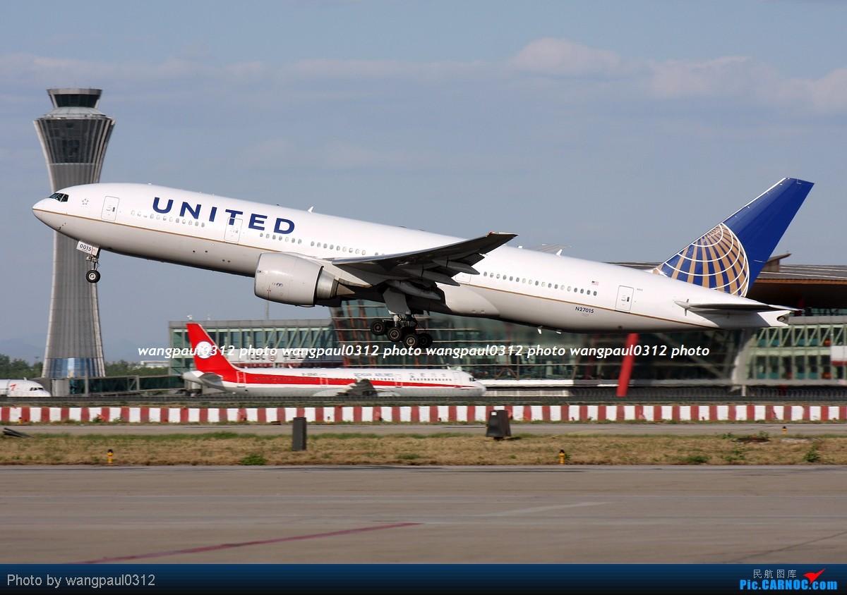 [原创]难得的好天气,来几张首都机场重型机在36R跑道起飞图 BOEING 777-224(ER) N27015 北京首都国际机场