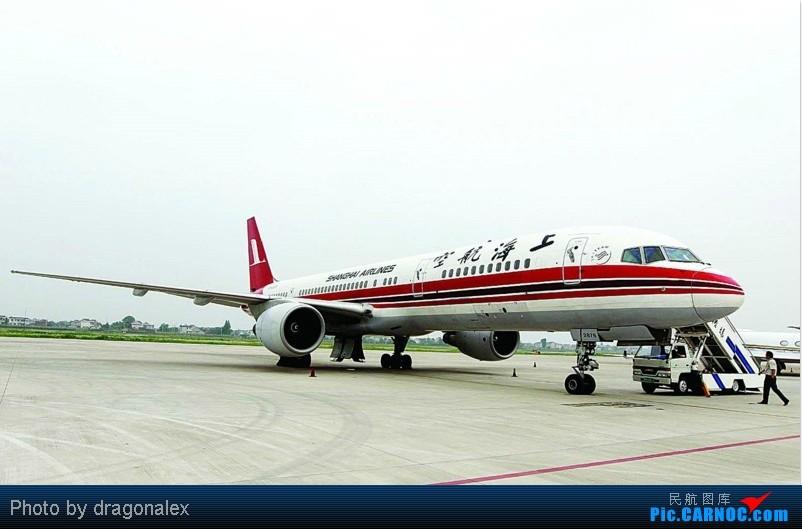 上海航空757首次到南通机场飞训