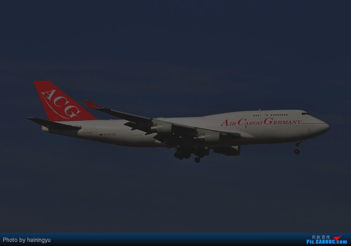 [原创]【鱼羊鲜】终于盼来好天 迎来空桥747-8F BOEING 747-400 D-ACGD PVG