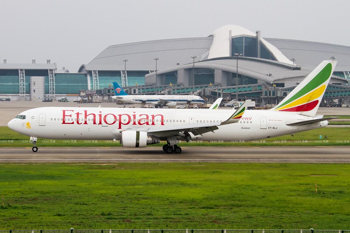 [原创][CASG]埃塞利比亚B767-300ER小翼 BOEING 767-300 ET-ALJ 中国广州白云机场