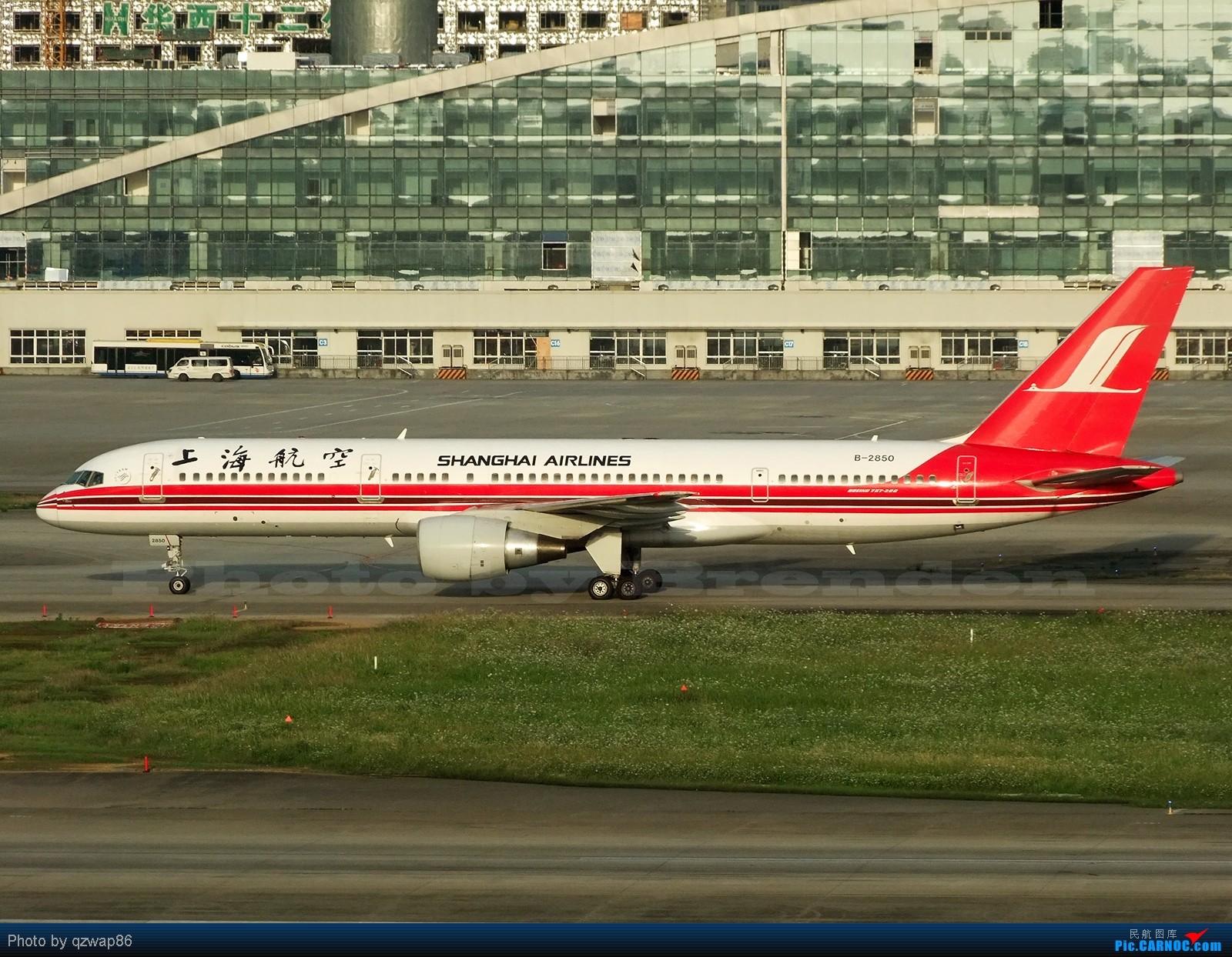Re:[原创]【CCFA成都空港缘分】为TA拍婚纱 BOEING 757-200 B-2850 成都双流国际机场