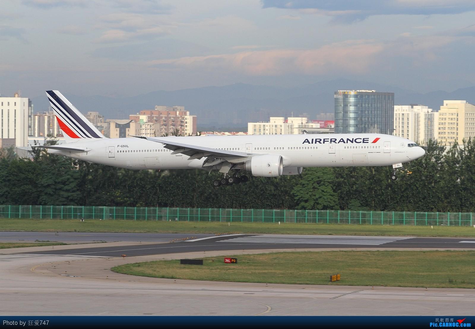 Re:[原创]西跑拍摄的一组外航飞机 BOEING 777-328/ER F-GSQL 中国北京首都机场