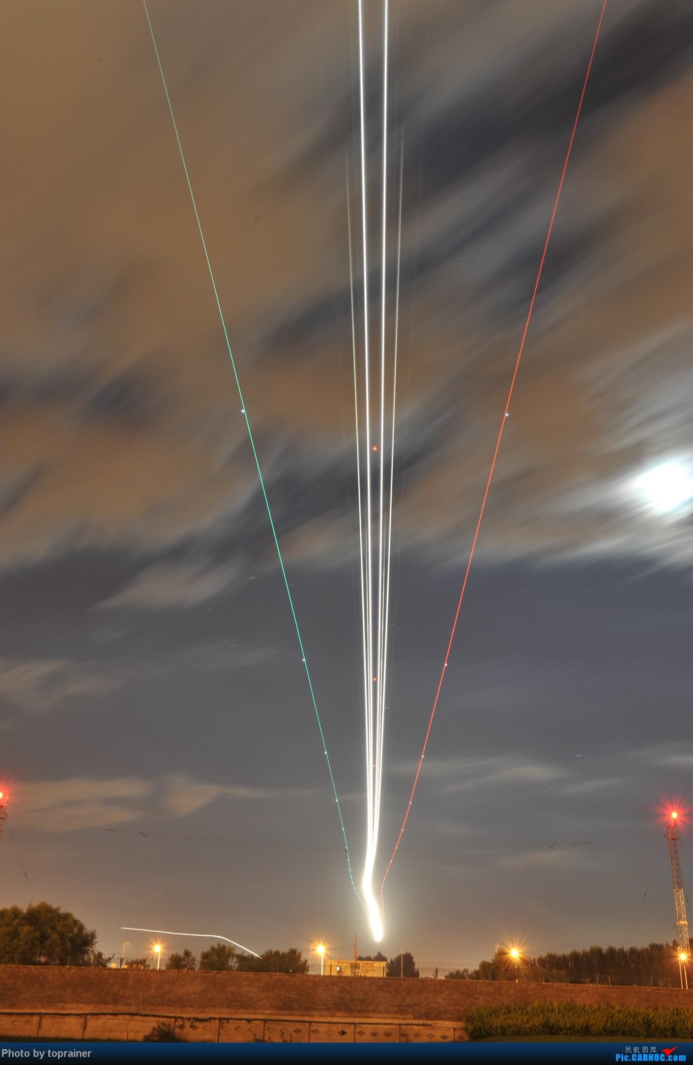 首都机场八卦台夜拍,震撼效果,蚊子太多了