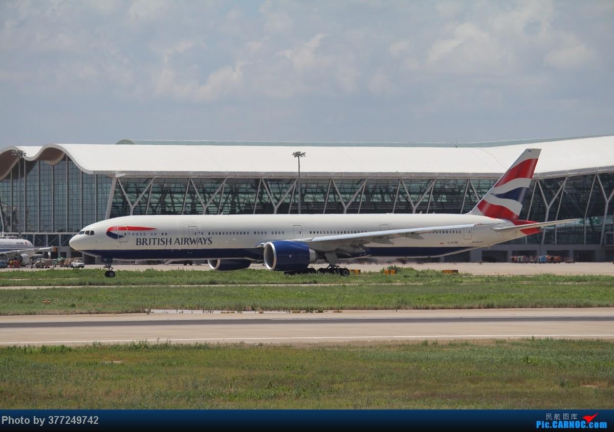 Re:[原创]趁着最后的好天气去趟PVG,烂技术请多包涵。西园会、世博320、长荣744、AC763、UA744。回去磁悬浮飙到430KM一刚。 BOEING 777-300 G-STBE 中国上海浦东机场