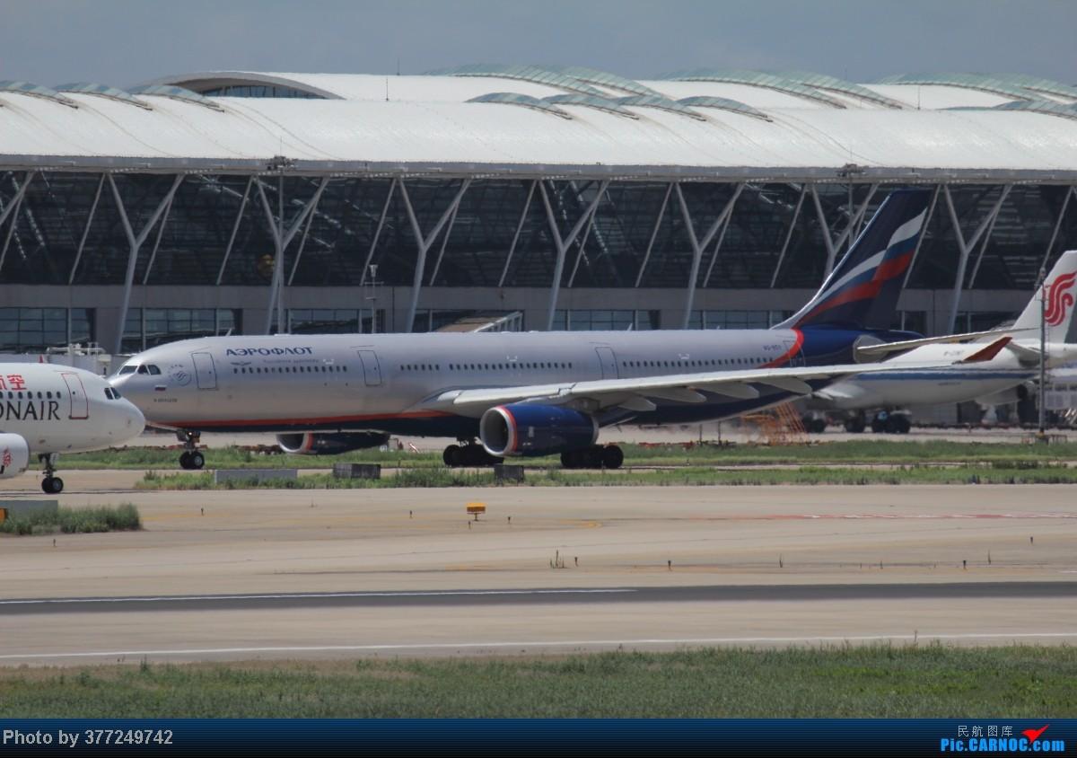 Re:[原创]趁着最后的好天气去趟PVG,烂技术请多包涵。西园会、世博320、长荣744、AC763、UA744。回去磁悬浮飙到430KM一刚。 AIRBUS A330-300 VQ-BQY 中国上海浦东机场