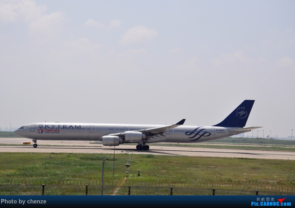 Re:[原创]浦东的天不咋蓝了,但还是要拍滴!!有点小惊喜!发现临时拍机位! AIRBUS A340-600 B-6053 中国上海浦东机场