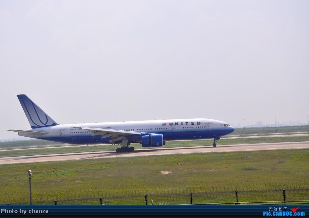 Re:[原创]浦东的天不咋蓝了,但还是要拍滴!!有点小惊喜!发现临时拍机位! BOEING 777-200 N784UA 中国上海浦东机场