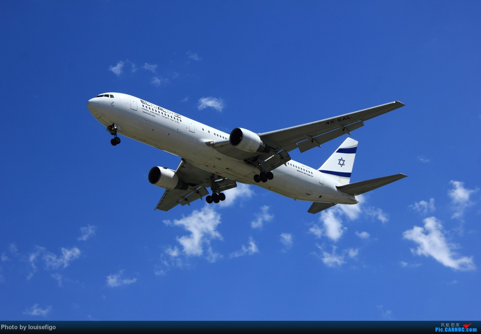 Re:[原创]三张图:来自特拉维夫的大卫星-以色列767. BOEING 767-300ER 4X-EAL 北京首都国际机场