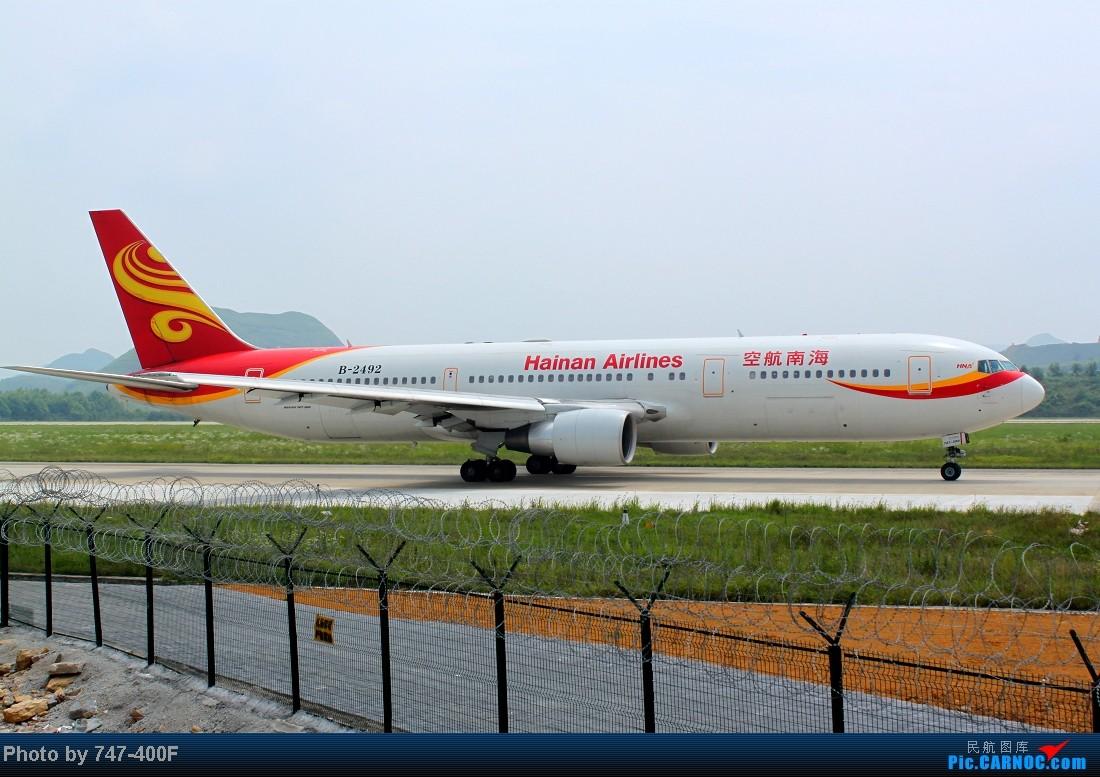 Re:[原创]【贵阳飞友会】暑假KWE打机,内有吹水、海航763、CRJ900 BOEING 767-300 B-2492 中国贵阳龙洞堡机场