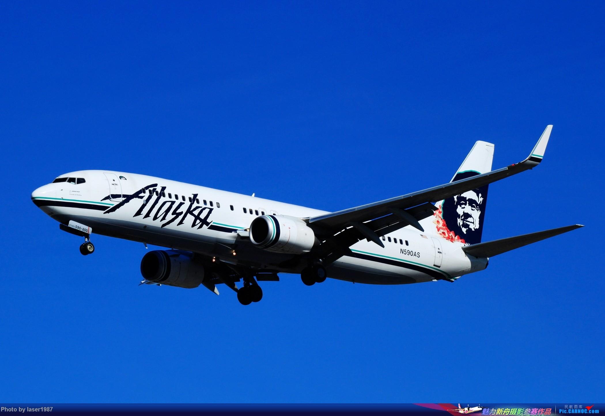 Re:[原创]2011.12.25 LAX 24R跑道东侧停车场拍飞机 BOEING 737-800 N590AS 美国洛杉矶国际机场