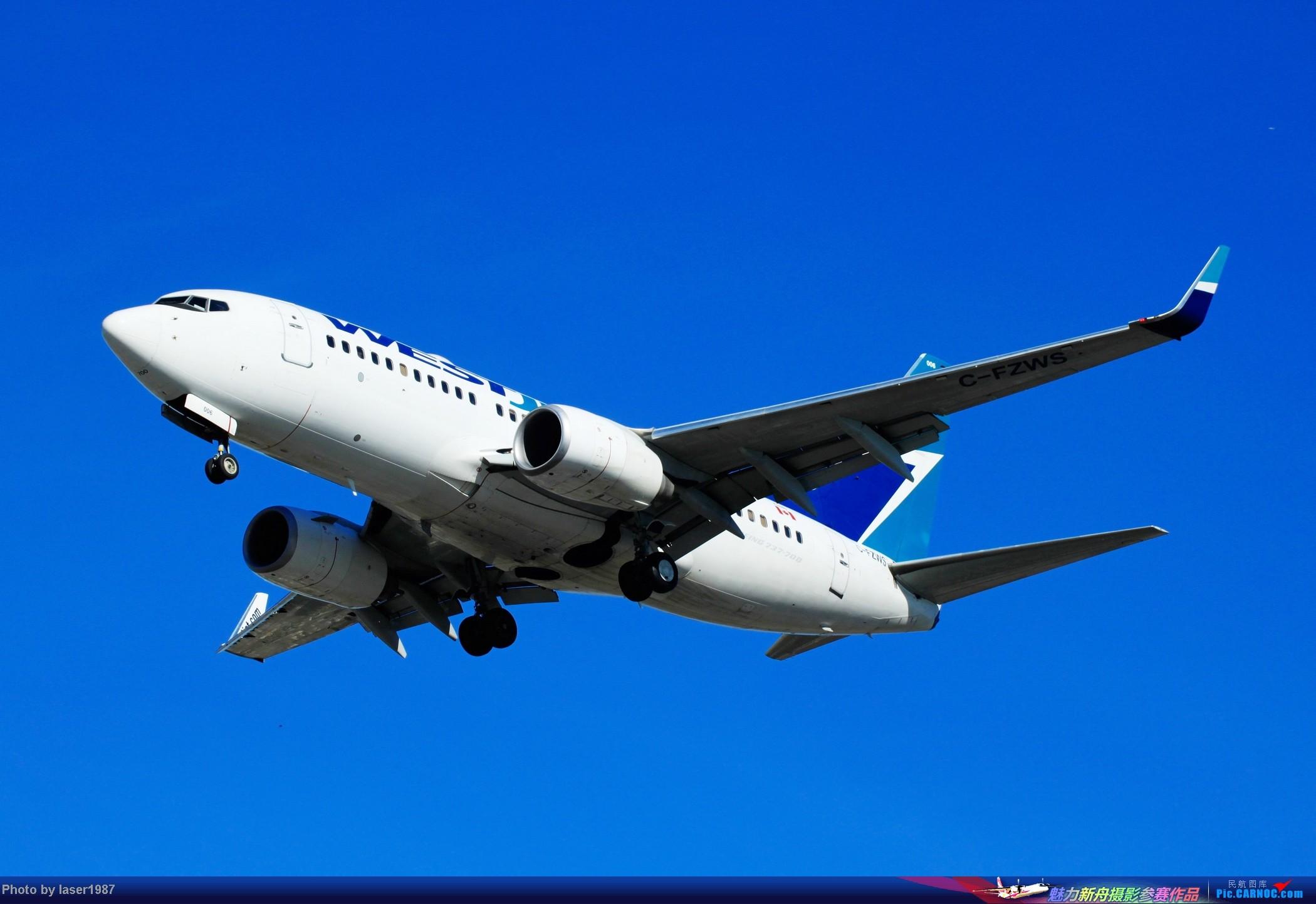 Re:[原创]2011.12.25 LAX 24R跑道东侧停车场拍飞机 BOEING 737-700 C-FZWS 美国洛杉矶国际机场