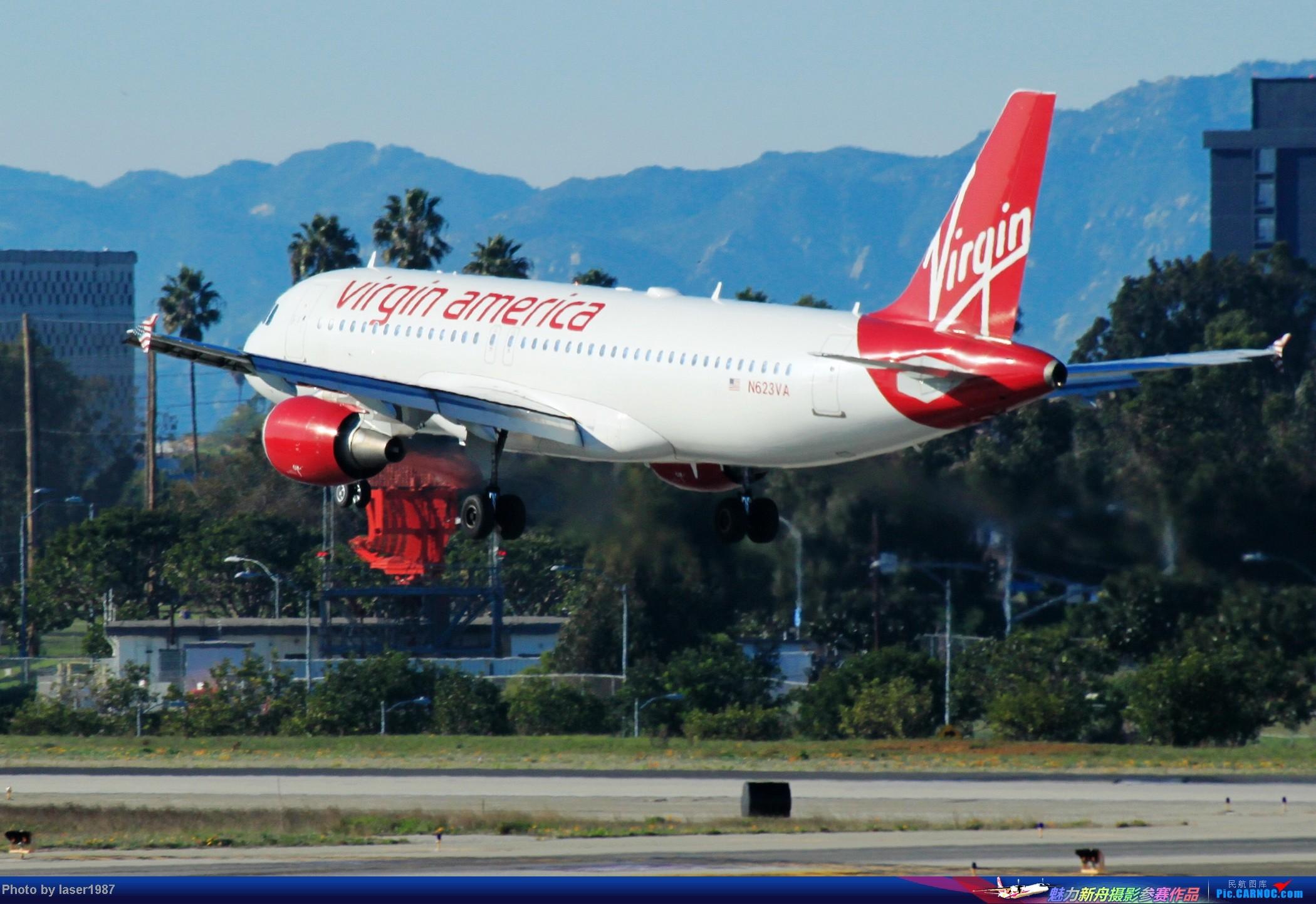 Re:[原创]2011.12.25 LAX 24R跑道东侧停车场拍飞机 AIRBUS A320 N623VA 美国洛杉矶国际机场