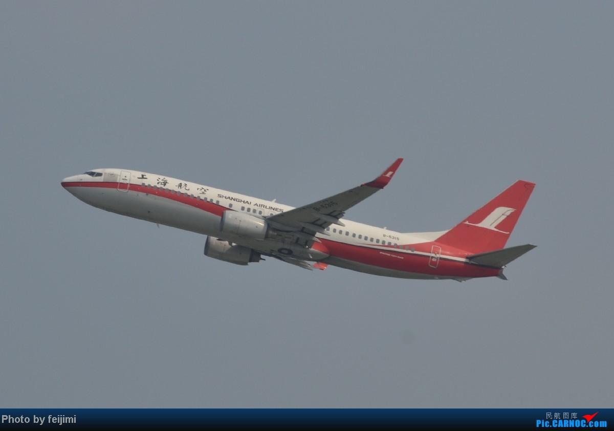Re:[原创]我的暑假最后一次拍飞机,惊喜不断,RP超级大爆发!!哈哈 BOEING 737-800 B-5315 中国烟台莱山机场