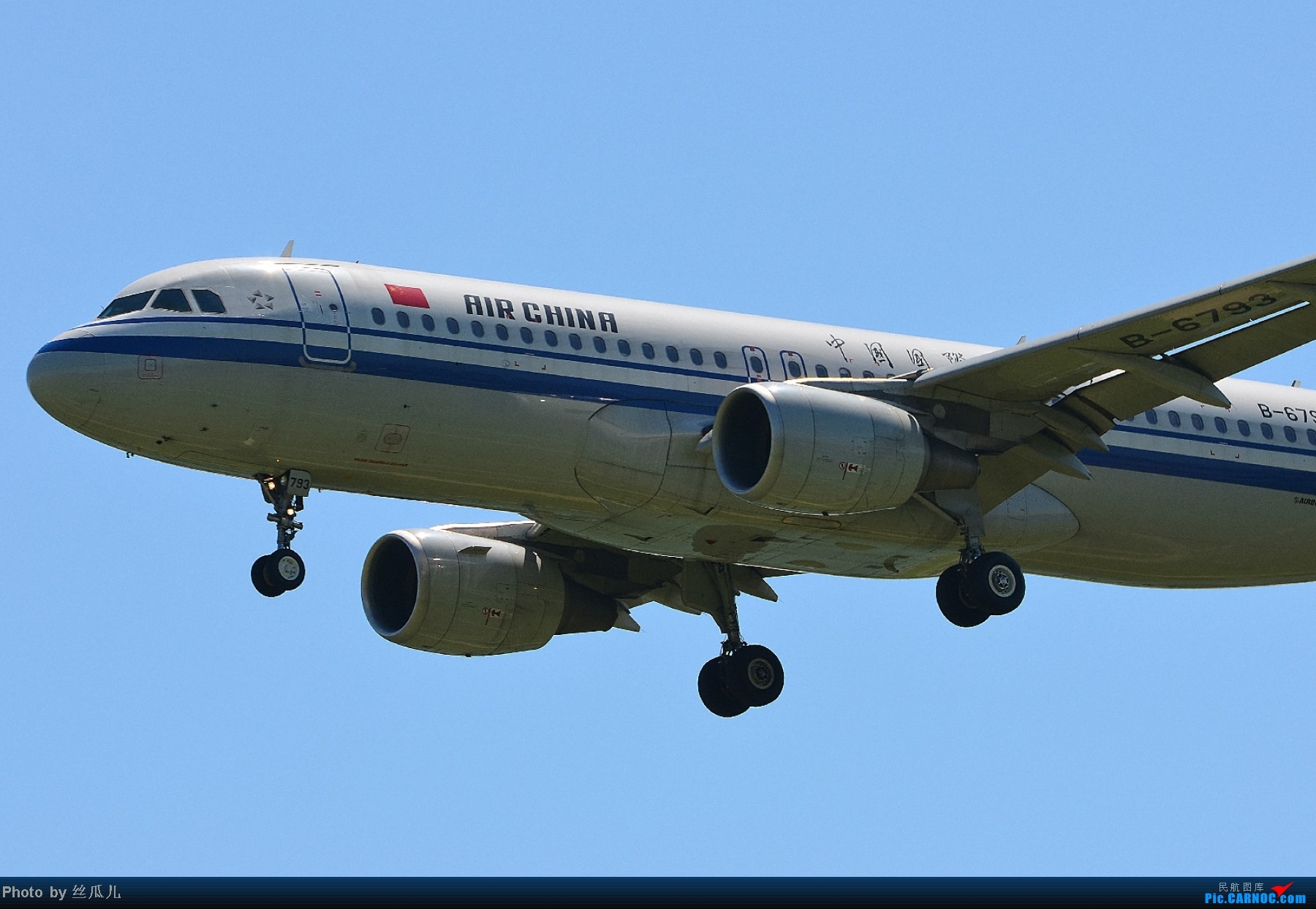 Re:[原创]长途奔袭鸟窝所得,HGH-PEK-HGH,鸟窝上空在我登基前的最后时刻云开雾散,感谢国家!感谢首都!感谢飞友网!感谢新华网!够长吗?不够就继续感谢下去 AIRBUS A320-200 B-6793 中国北京首都机场