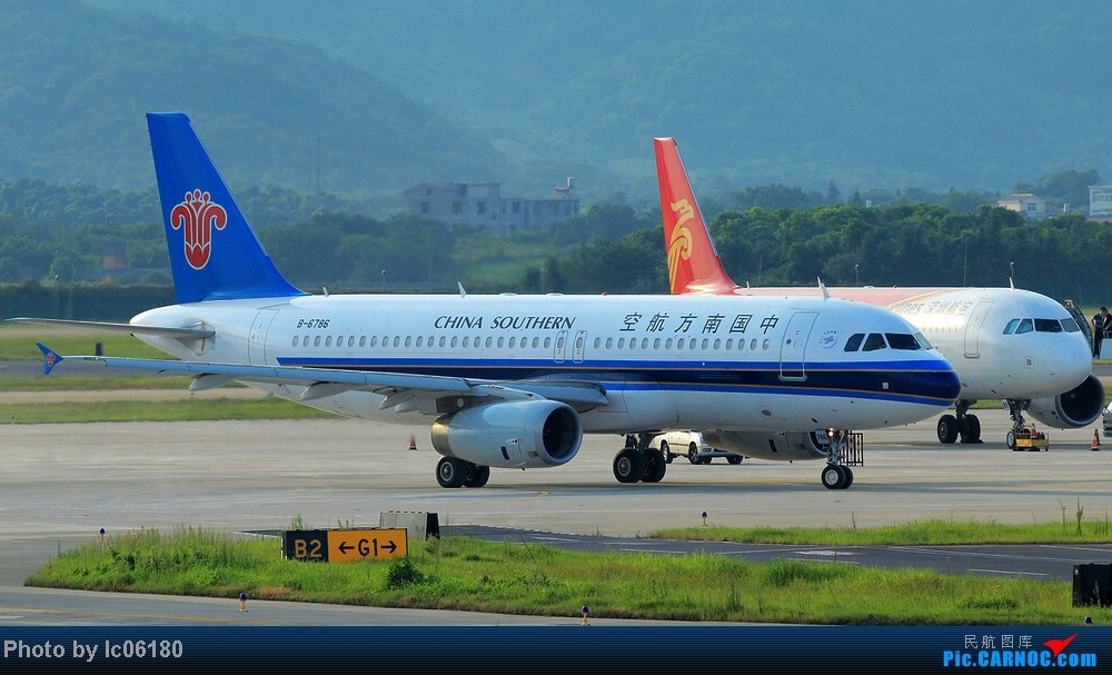 Re:[原创]『KHN』傍晚的昌北机场-大中小飞机齐在 普装彩绘都来 AIRBUS A320-200 B-6786 中国南昌昌北机场