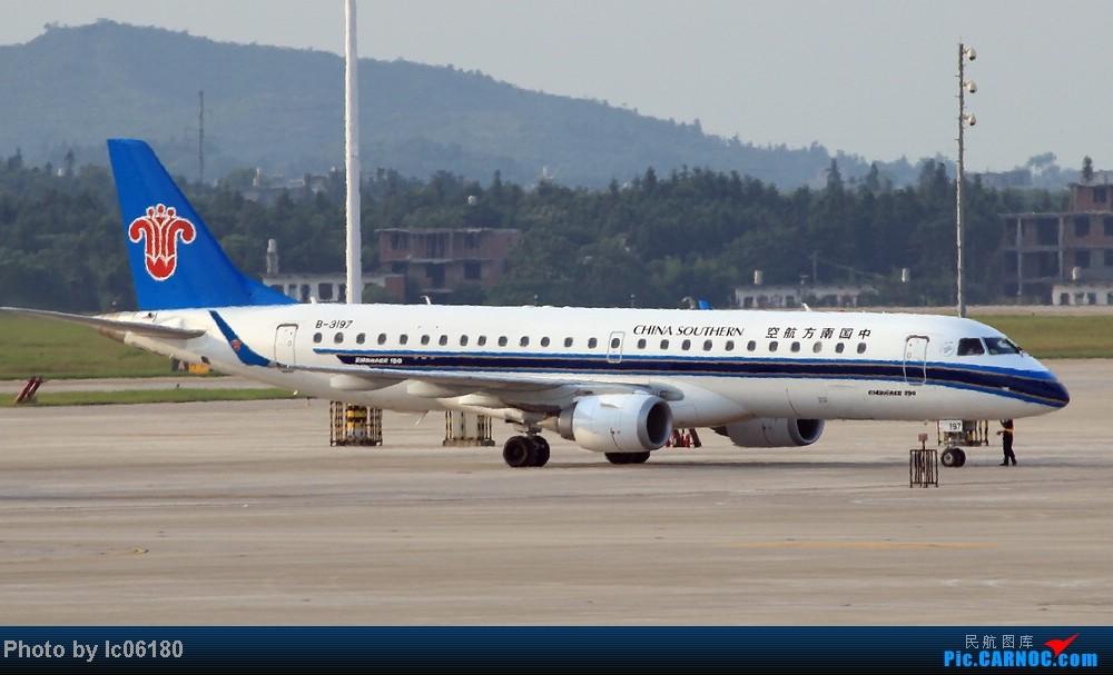 Re:[原创]『KHN』傍晚的昌北机场-大中小飞机齐在 普装彩绘都来 EMBRAER E-190 B-3197 中国南昌昌北机场