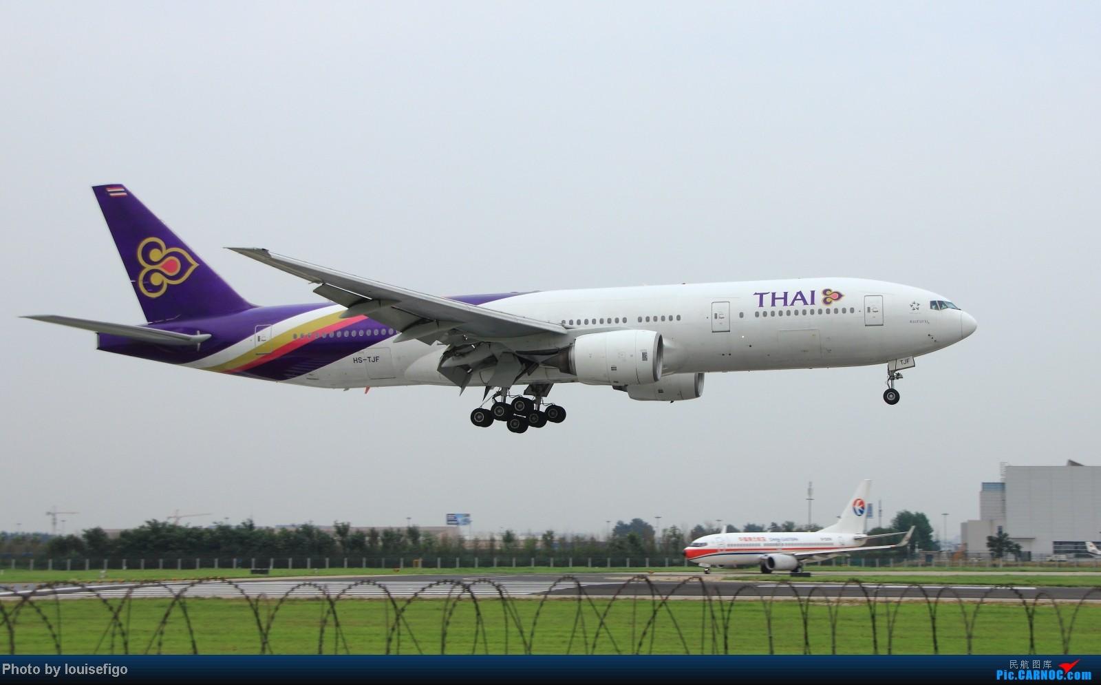 Re:[原创]闲来无事天气闷,发点冷饭自娱乐!!!PEK西跑的降落杂图~发到哪儿是哪儿啊!随心情! BOEING 777-200 HS-TJF 北京首都国际机场