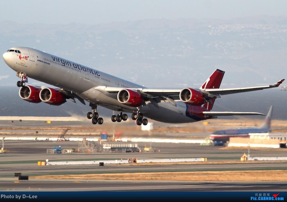 [原创]San Francisco(SFO) RWY28R&01R Virgin Atlantic41 clear to take off AIRBUS A340-600 G-VWIN 美国旧金山机场
