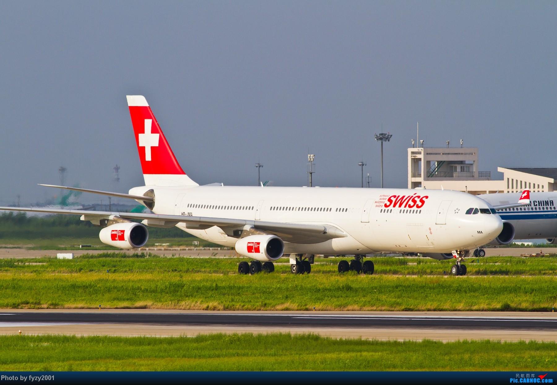 Re:[原创][无锡西站]一周之内SHA&PVG追逐美好光线……多图党,不知你的电脑能承受多少张1800~~~~~ AIRBUS A340-300 HB-JMA 中国上海浦东机场
