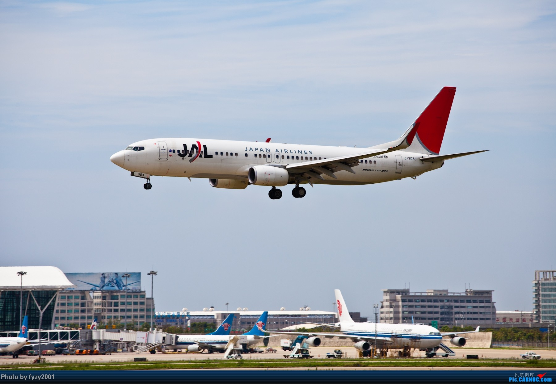 Re:[原创][无锡西站]一周之内SHA&PVG追逐美好光线……多图党,不知你的电脑能承受多少张1800~~~~~ BOEING 737-800 JA303J 中国上海浦东机场