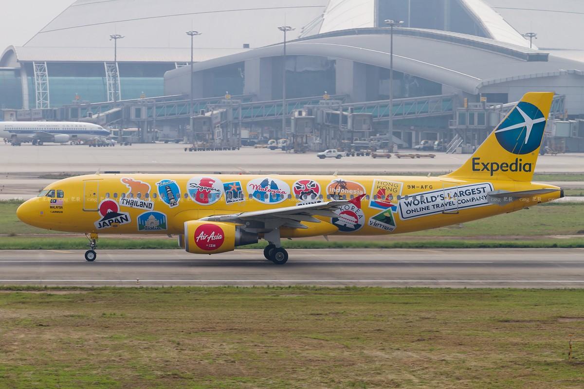 [原创][CASG]亚洲航空的彩绘机 AIRBUS A320-200 9M-AFG 中国广州白云机场