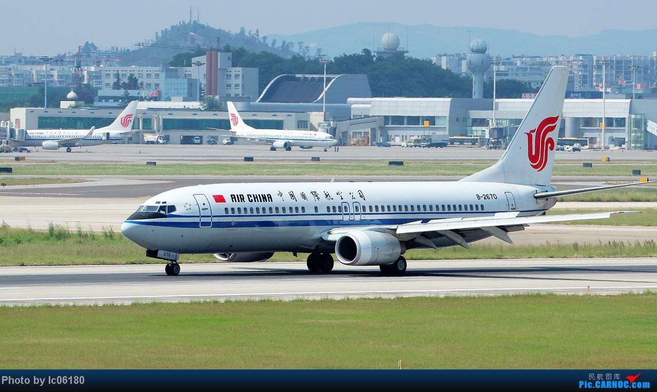 『lc06180』CKG - 跑道20R落地 BOEING 737-800 B-2670 中国重庆江北机场