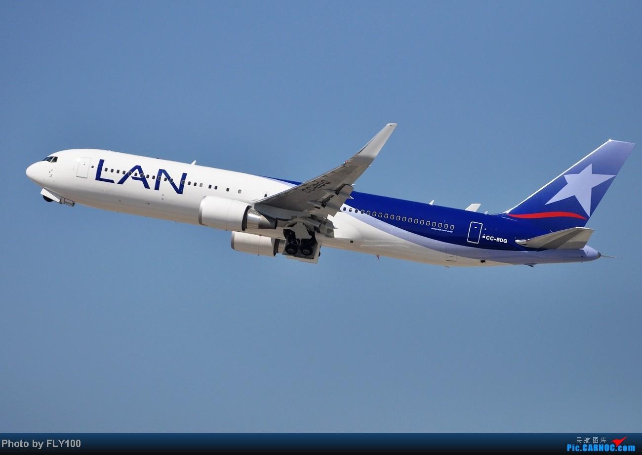 [原创]【LAX】每次来都能打到点新鲜玩意 BOEING 767-300 CC-BDG 美国洛杉矶机场