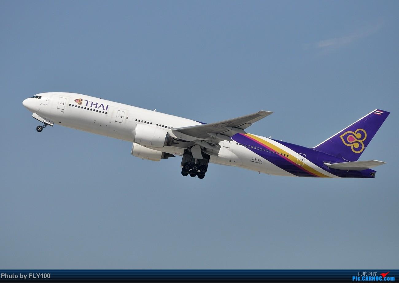 Re:[原创]【LAX】每次来都能打到点新鲜玩意 BOEING 777-200 HS-TJT 美国洛杉矶机场