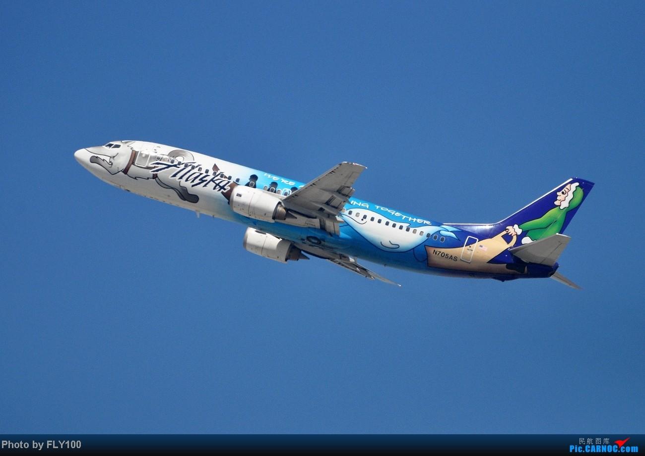 Re:[原创]【LAX】每次来都能打到点新鲜玩意 BOEING 737-400 N705AS 美国洛杉矶机场