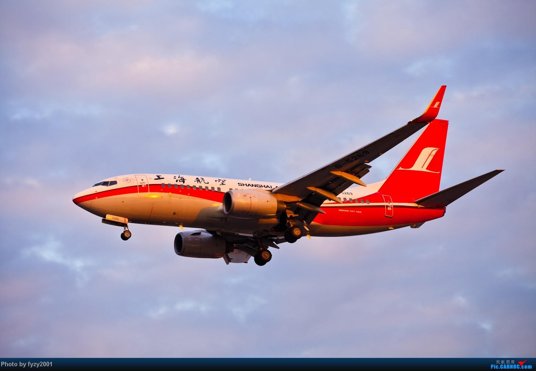 Re:[原创][无锡西站]追逐光影的脚步(1800大图) BOEING 737-700 B-5269 中国上海虹桥机场