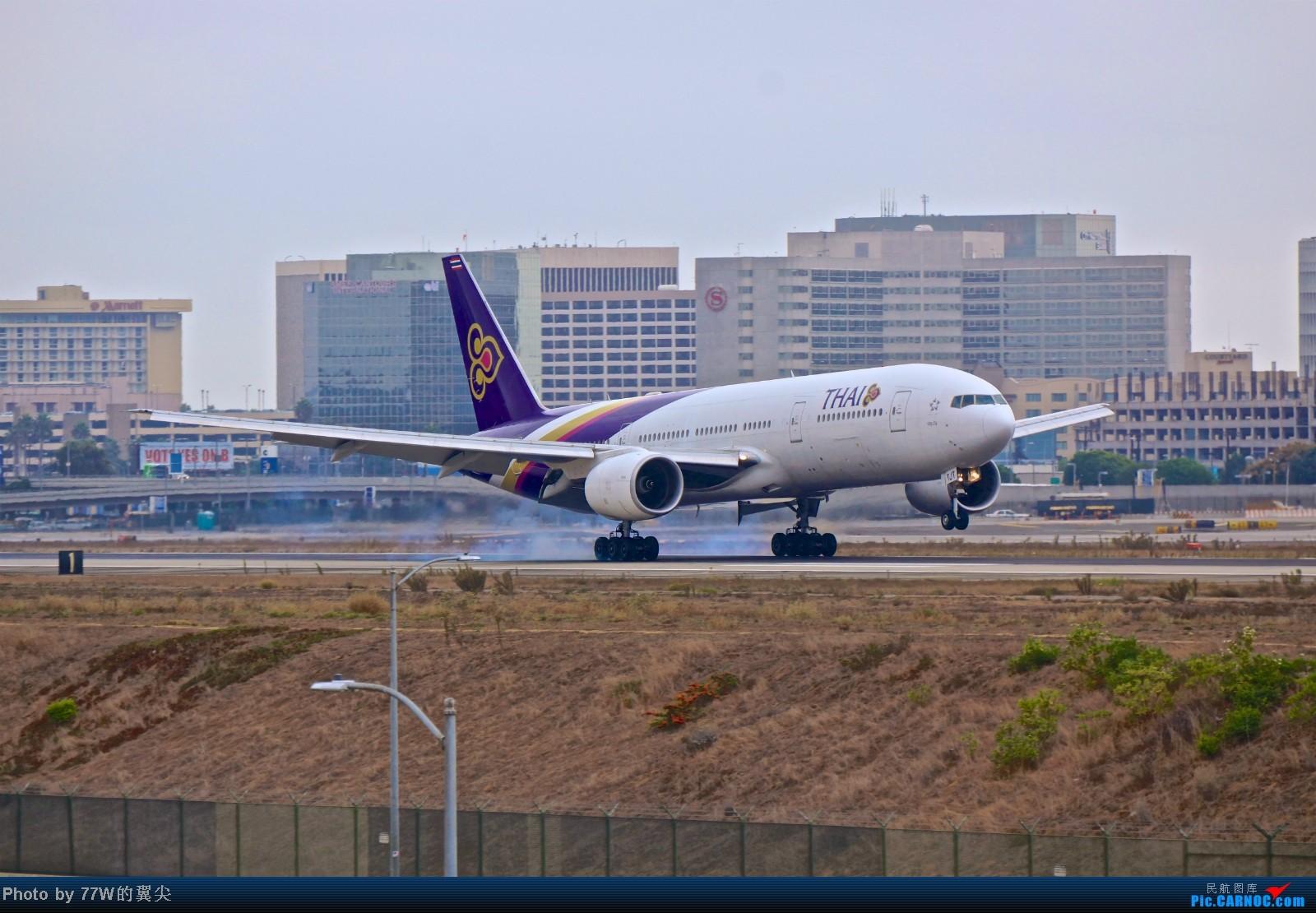 Re:[原创][LAX]---不一样的LAX ---阴天777合集  一次看个够 777-2D7/ER HS-TJT 美国洛杉矶机场