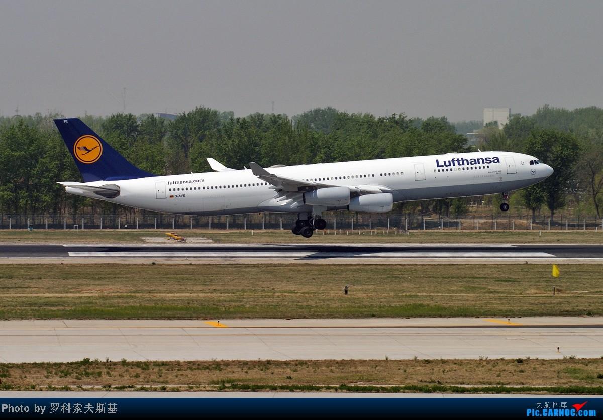 Re:[原创]【昆明的天空】毛子喜欢重型机~~ AIRBUS A340-300 D-AIFE 中国北京首都机场