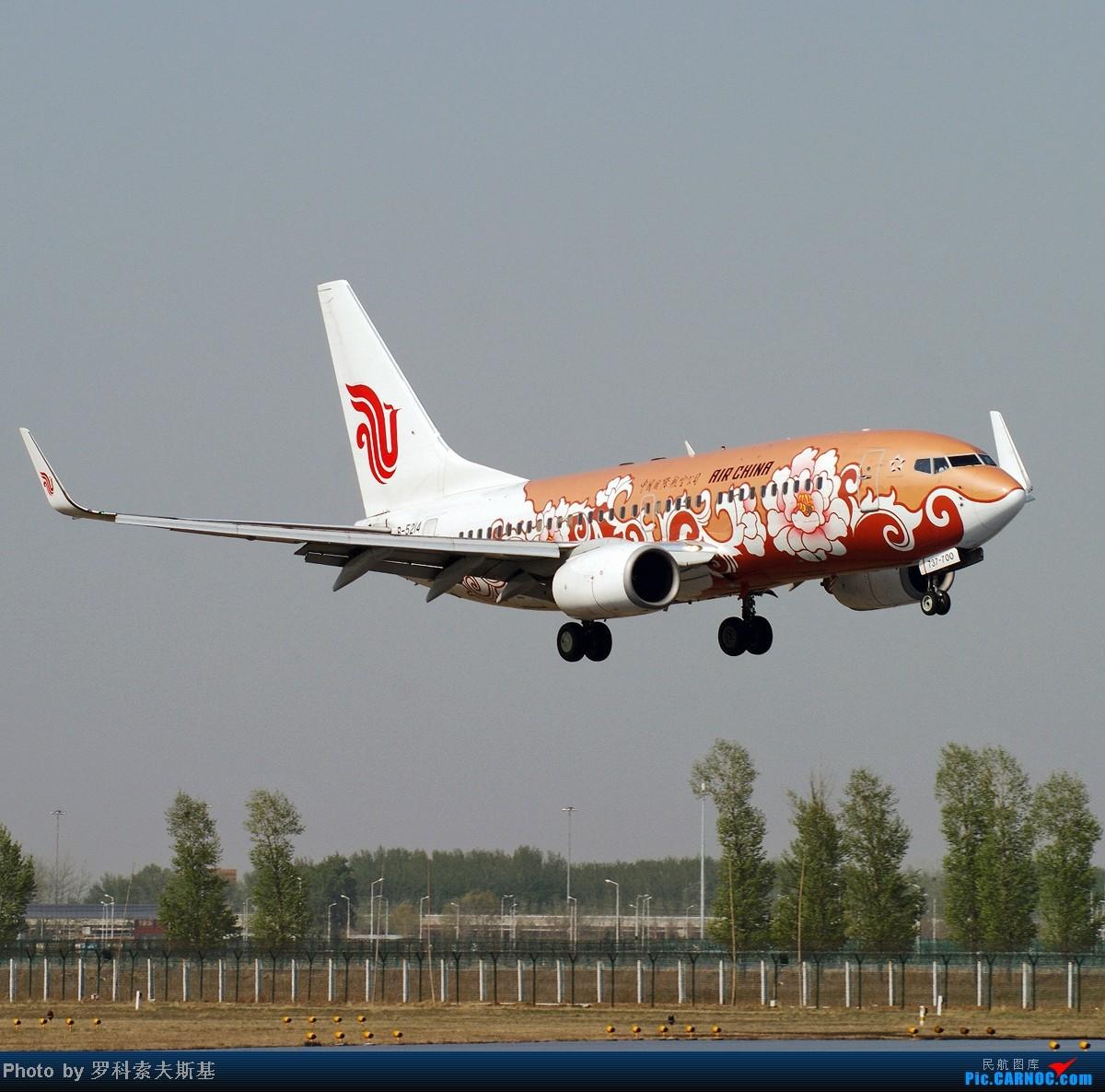 [原创]【昆明的天空】B-5214在PEK18R降落一组 BOEING 737-700 B-5214 中国北京首都机场