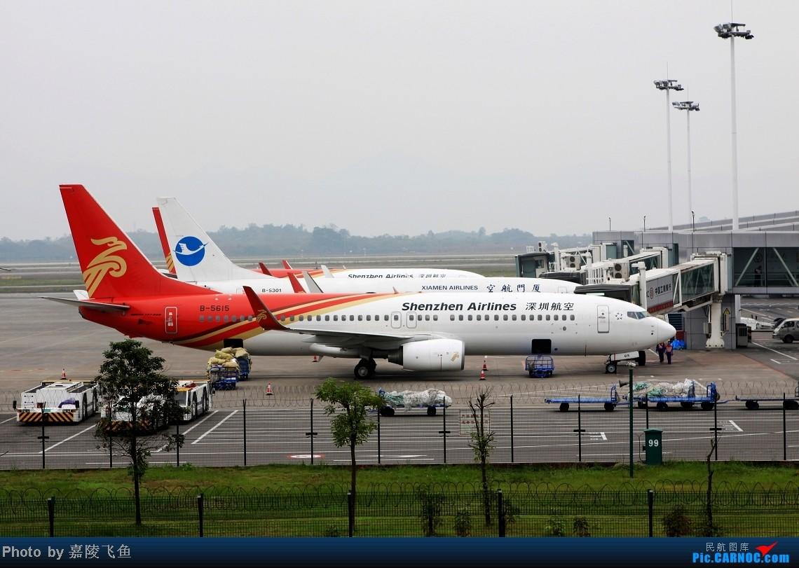 [原创]拍到深圳航空带星星的飞机 BOEING 737-800 B-5615 中国重庆江北机场