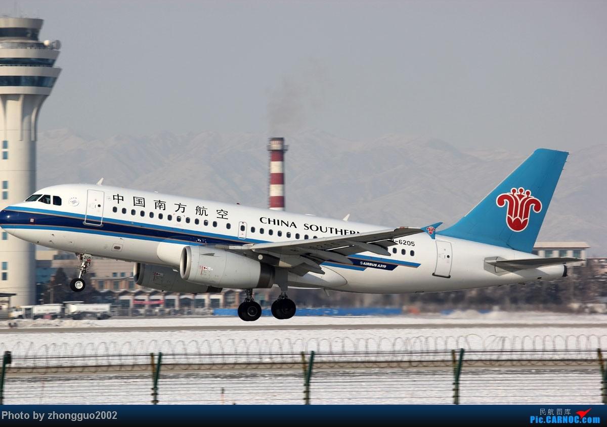 Re:[原创]雪后机场拍飞机第四集,大综合。。。。。 AIRBUS A319-100 B-6205 中国呼和浩特白塔国际机场