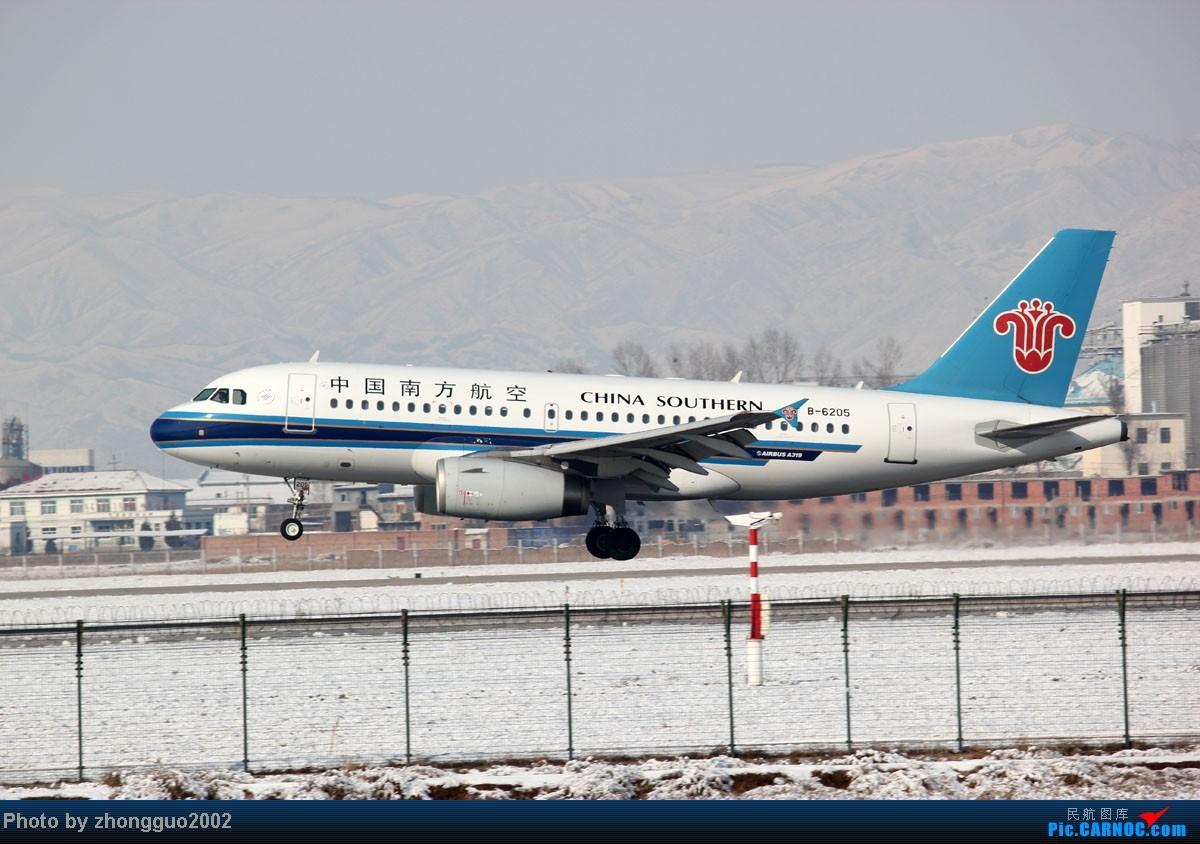 Re:[原创]雪后拍机第二集,感谢各位亲戚朋友的支持! AIRBUS A319-100 B-6205 中国呼和浩特白塔国际机场