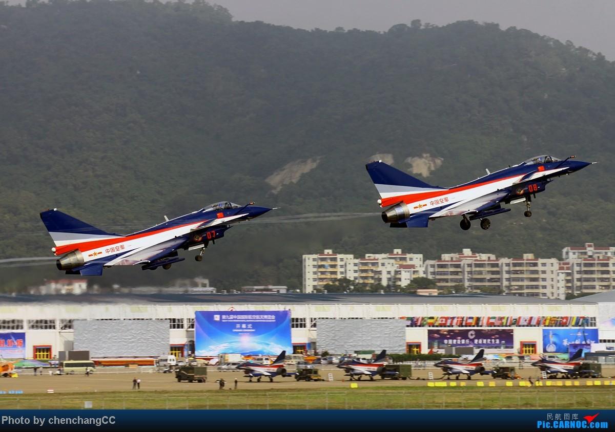 [原创]【chenchangCC】也该八一出场了,歼十3机表演 J-10 08 中国珠海三灶机场