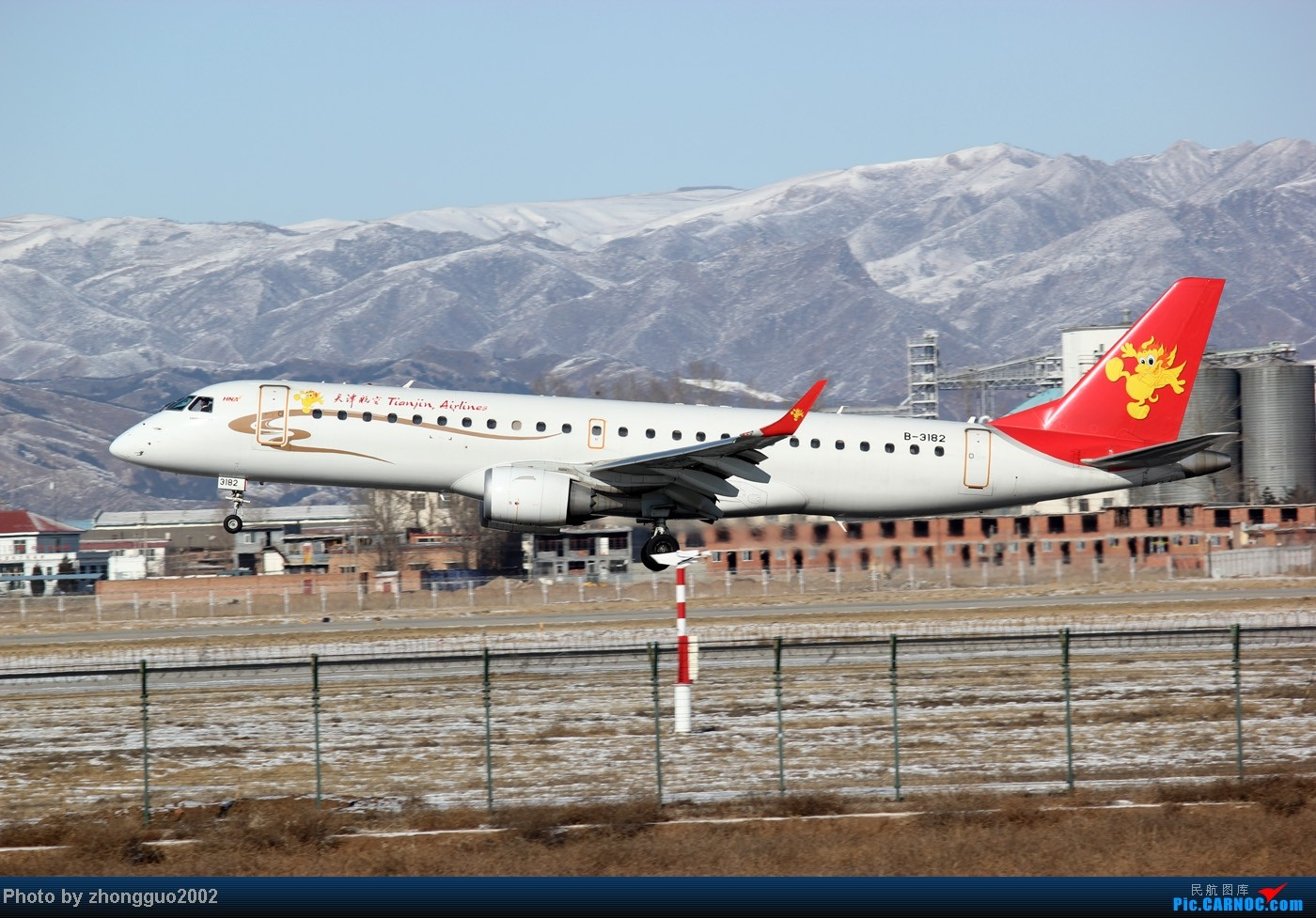 Re:[原创]灰鼻子的春哥第一次拍到,还有其他灰机。 EMBRAER E-190 B-3182 中国呼和浩特白塔国际机场