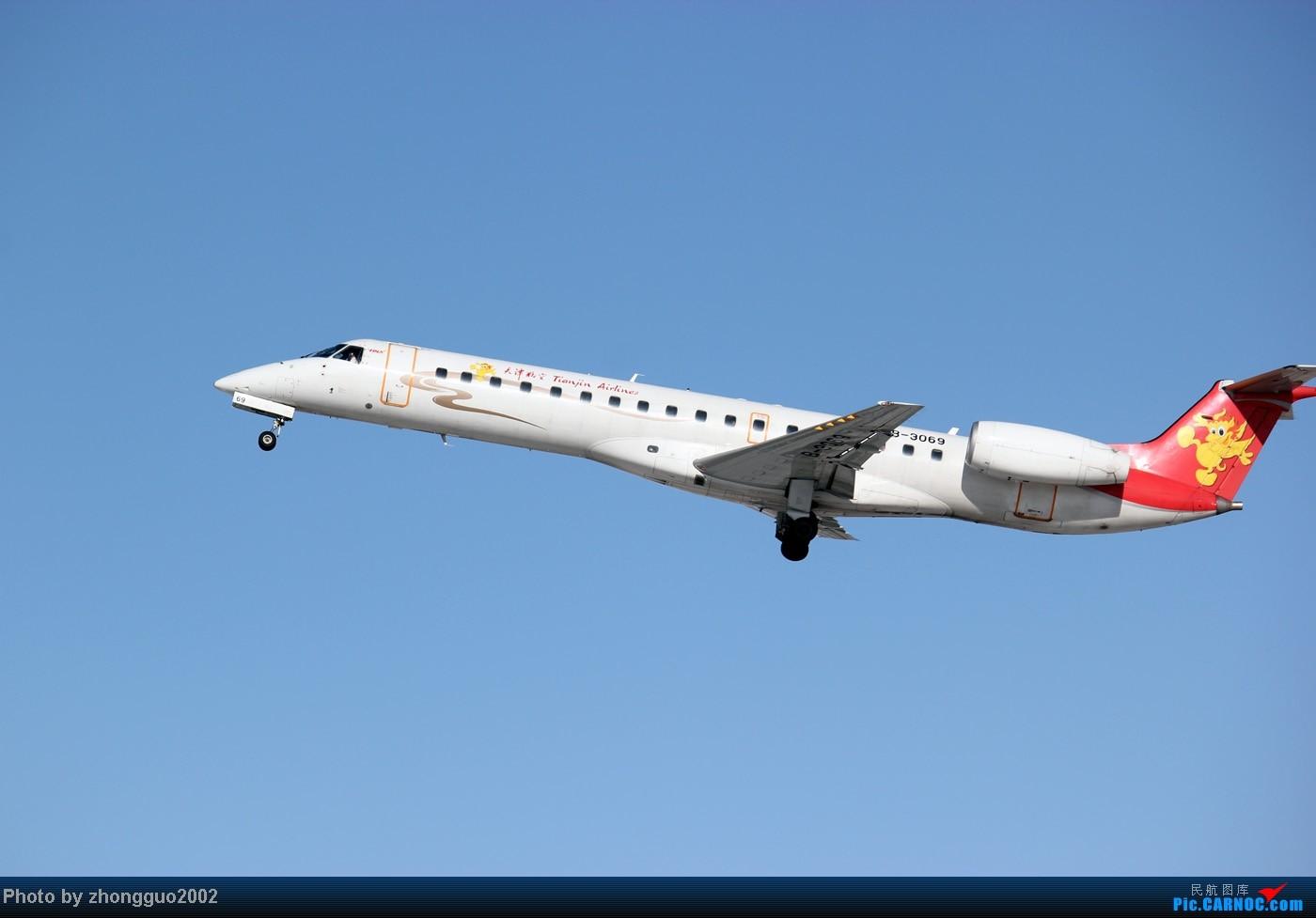 Re:[原创]灰鼻子的春哥第一次拍到,还有其他灰机。 EMBRAER ERJ-145 B-3069 中国呼和浩特白塔国际机场