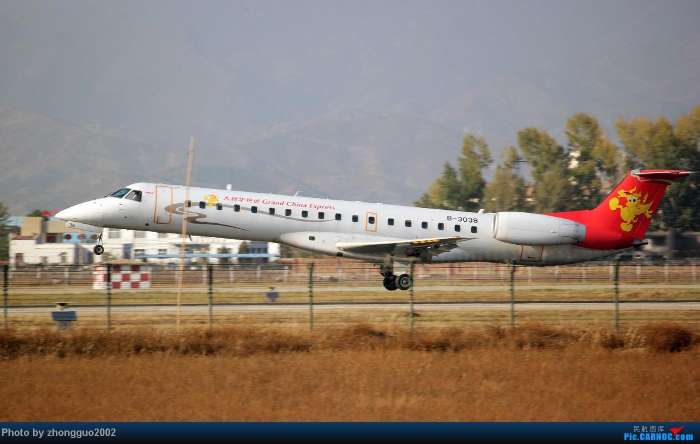 Re:[原创]随着2012年的最后一场雪的到了,我的2012年拍机工作也圆满的结束了,把这段时间里灰机整理一下,把没发的,我个人认为好的发上来! EMBRAER ERJ-145 B-3038 中国呼和浩特白塔国际机场