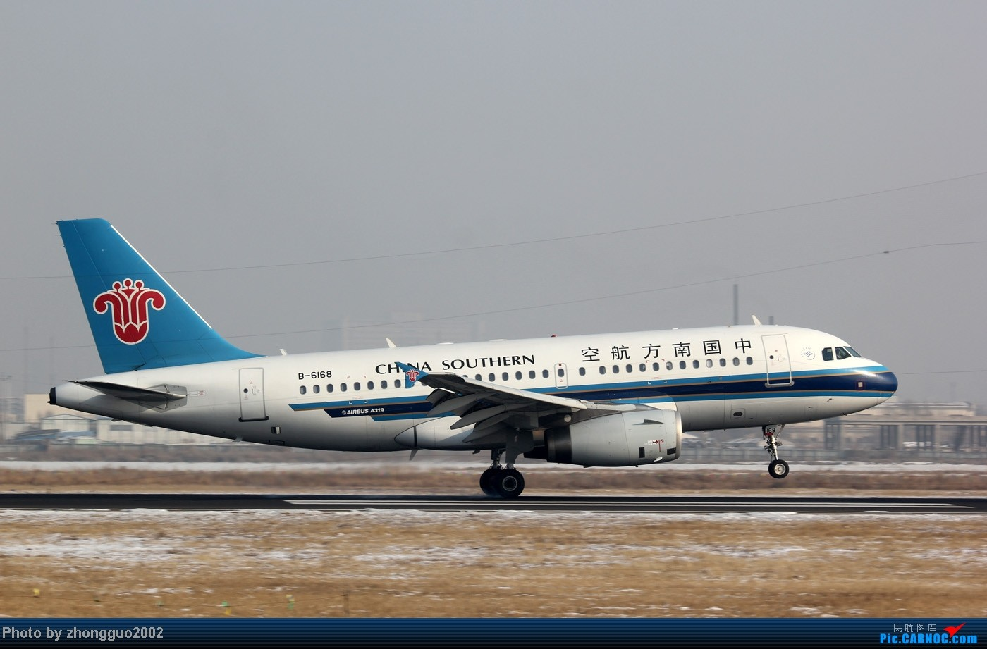 Re:[原创]随着2012年的最后一场雪的到了,我的2012年拍机工作也圆满的结束了,把这段时间里灰机整理一下,把没发的,我个人认为好的发上来! AIRBUS A319-100 B-6168 中国包头二里半机场