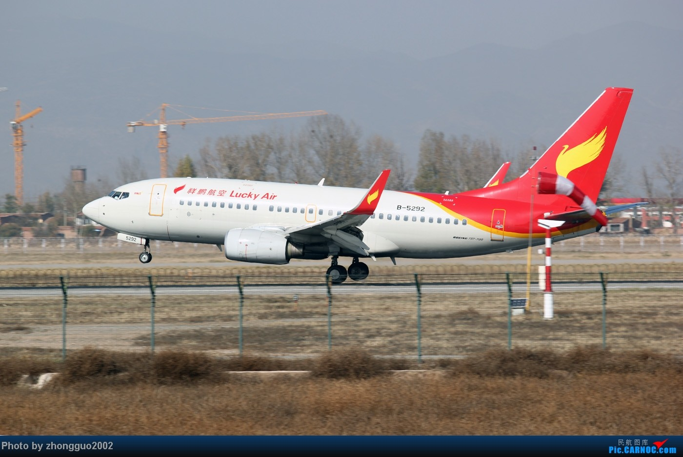 Re:[原创]随着2012年的最后一场雪的到了,我的2012年拍机工作也圆满的结束了,把这段时间里灰机整理一下,把没发的,我个人认为好的发上来! BOEING 737-700 B-5292 中国呼和浩特白塔国际机场