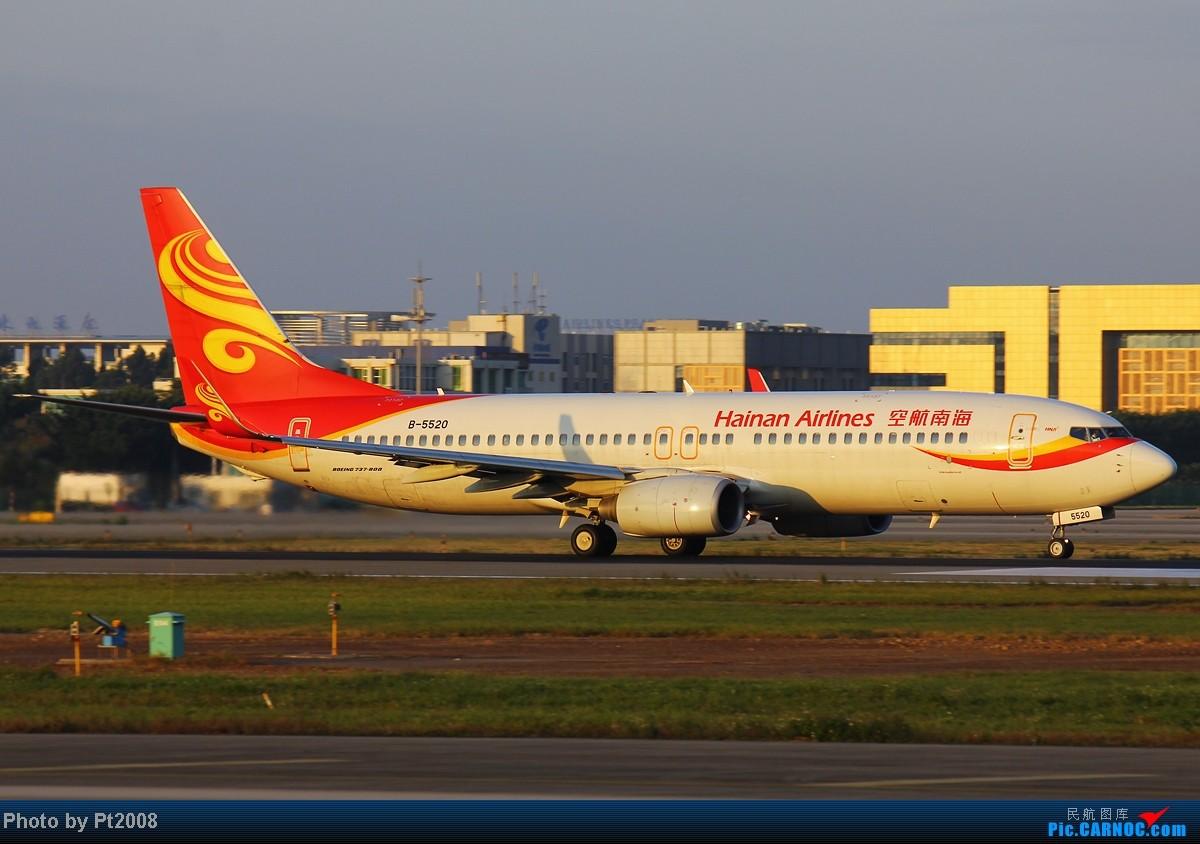 Re:[原创]【CAN】清晨的白云,2012年最后一拍。给力的天气,给力的光线迎接新一年的到来! BOEING 737-800 B-5520 中国广州白云机场