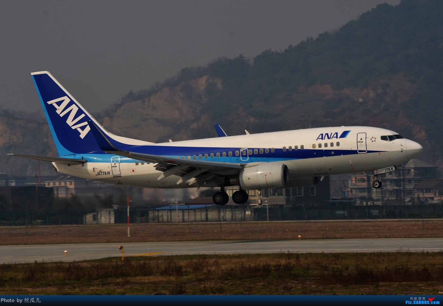 Re:[原创]【HGH二跑】话说如今的二跑有了制高点--趁今天雾霾好转一点赶紧去练练甩腰--今日中午二跑拍机一小时全记录 BOEING 737-781(WL) JA17AN 中国杭州萧山机场
