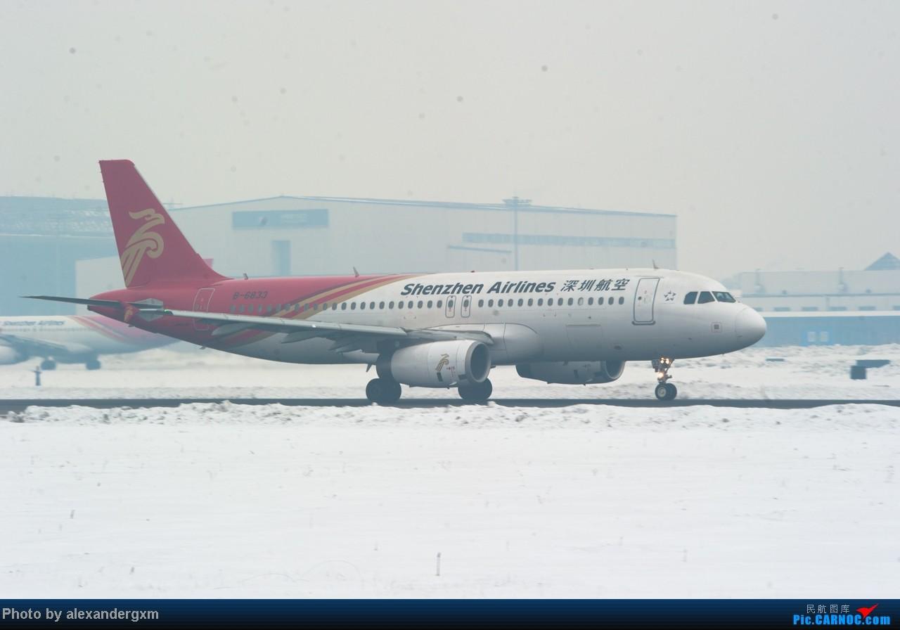 Re:[原创]【SHE】1.20日拍机,雾霾天气能见度低。 AIRBUS A320-200 B-6833 中国沈阳桃仙机场